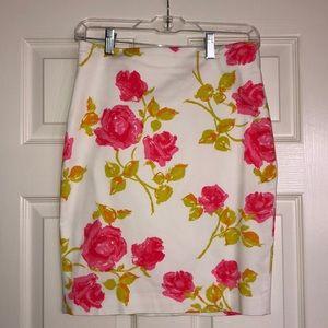 Lovely Ann Taylor 2P floral pencil skirt